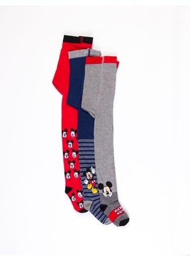 Mickey Mouse  Çocuk 3'Lü Külotlu Çorap 17066 Siyah